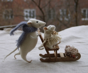 felt, funny, and mice image