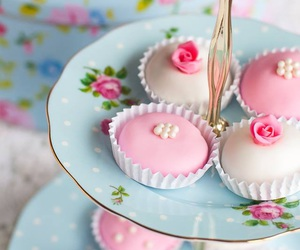 pink, cupcake, and rose image