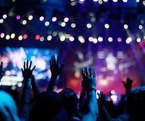 concert, light, and hands image
