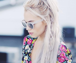 blond, hair, and moda image