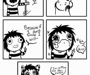 comic, funny, and sad image