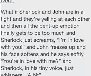 john, sherlock, and johnlock image