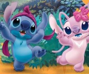 pink, stitch, and lilo e stitch image