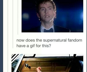 dean winchester, doctor who, and supernatural image