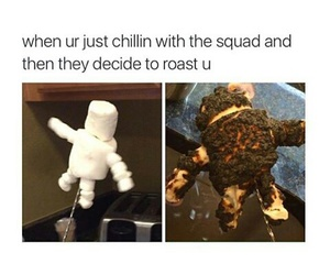 funny, meme, and roast image