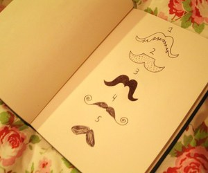 mustache, book, and moustache image
