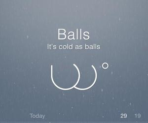 funny, balls, and boy image