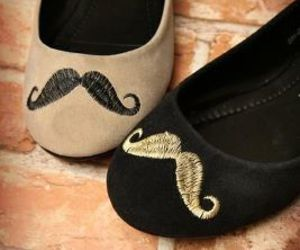 shoes, mustache, and moustache image