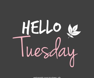 tuesday, hello, and leaves image