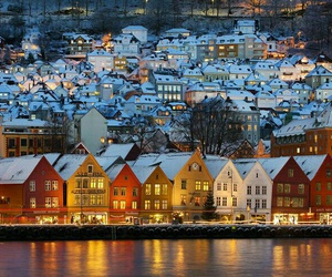 norway, bergen, and winter image