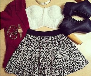 animal print, black and white, and clothes image