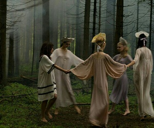 circle, dance, and forest image
