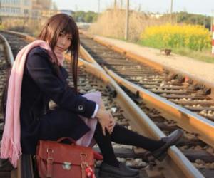 hello, cute anime girl cosplay, and brown hair girl cosplay image