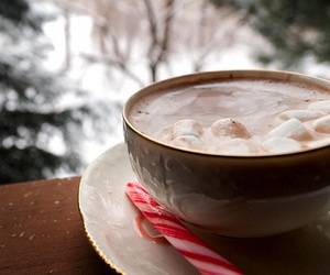 winter, christmas, and marshmallows image