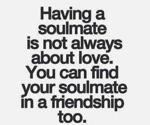friendship, love, and soulmate image