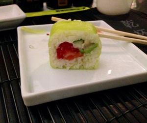 algae, salmon, and sushi image