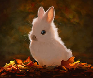 animal, rabbit, and art image