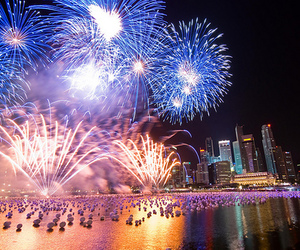 fireworks, beautiful, and city image