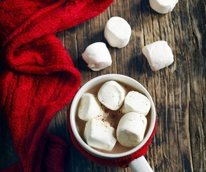 marshmallow, winter, and coffee image
