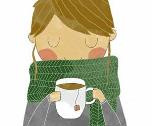 tea, art, and winter image