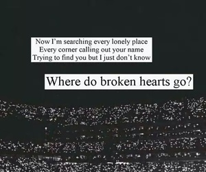 one direction, where do broken hearts go, and Lyrics image