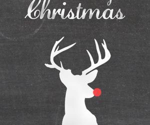 christmas, cold, and deer image
