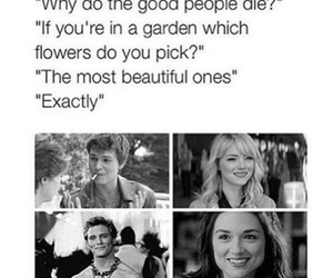 sad, flowers, and quote image