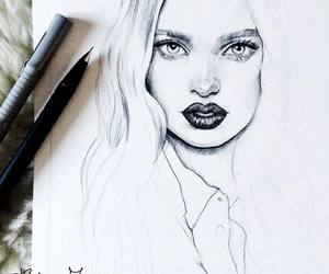 drawing, art, and beauty image