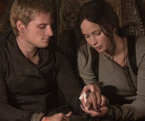 katniss, peeta, and the hunger games image