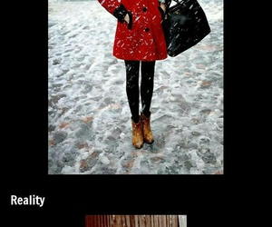 funny, girl, and snow image