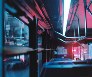 grunge, light, and bus image