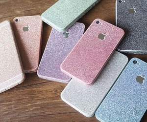 cover, glitter, and i phone image