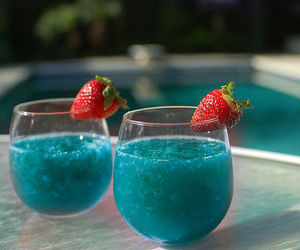 drink, strawberry, and blue image