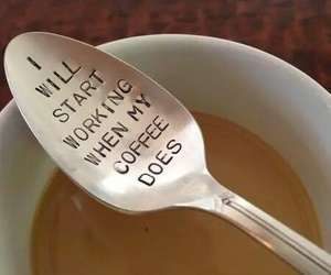 coffee, spoon, and funny image