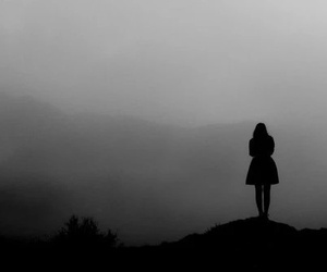 girl, alone, and Darkness image