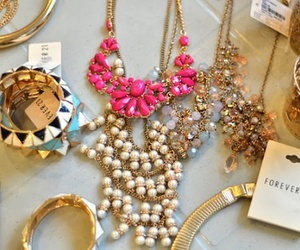 forever 21, necklace, and pink image