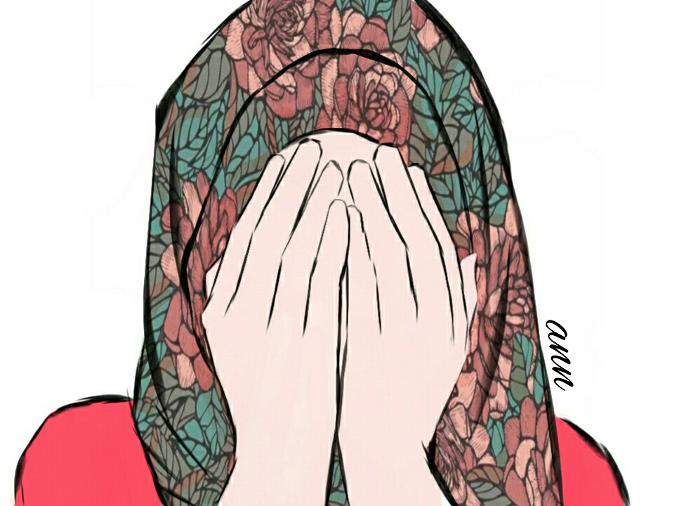 25 Images About Hijab Girl Drawing By Ann On We Heart It See More About Drawing Hijab And Art