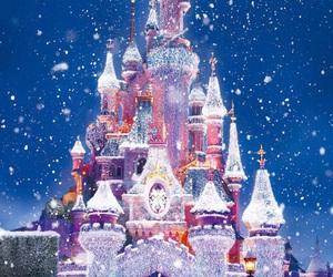 disney, snow, and christmas image