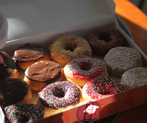food, donuts, and photography image