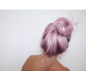 bun, girl, and pink image