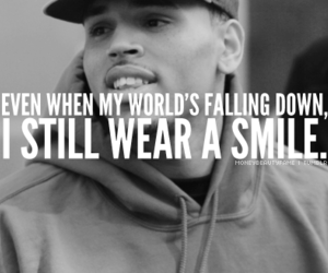 smile, chris brown, and quote image
