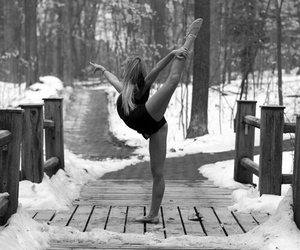 dance, winter, and snow image