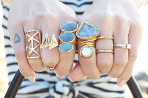 rings, blue, and gold image