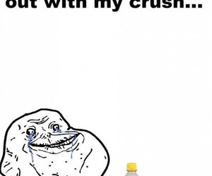 crush, funny, and forever alone image