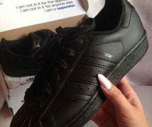 black, adidas, and superstar image