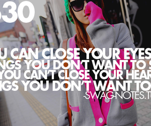 quote, heart, and swag image