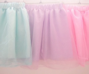 pastel, pink, and skirt image