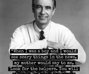quotes, helper, and fred rogers image