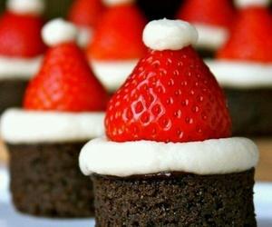 strawberry, christmas, and food image