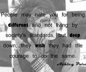 ashley purdy, quote, and black veil brides image